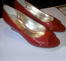 Carvela Red Leather Patent Wedges