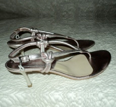 Dior Metallic Pink Flirty Sandals