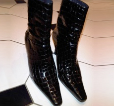 Stunning Black Patent Leather Boots