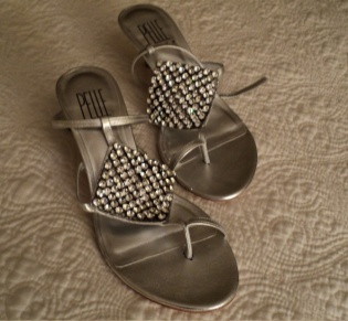 Silver Strappy Sandals