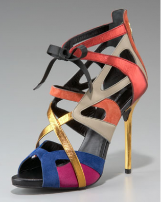 BRAND NEW DIEGO DOLCINI TIE ANKLE CUTOUT