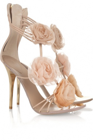Guiseppe Zanotti Flower-appliqu� leather