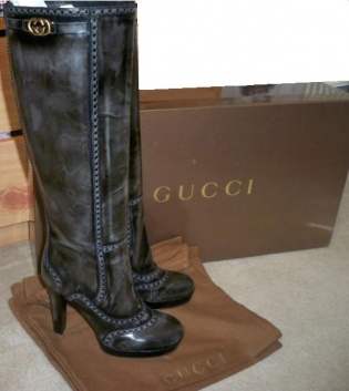 Black/Grey Gucci Boots NEVER WORN