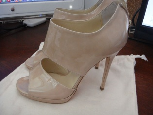 Jimmy Choo 24:7 Collection Nude Pumps