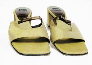 Bronze and Gold ANNE KLEIN sandal